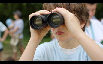 Mahoney binoculars at farm
